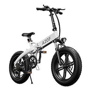 41 AL6puSaS. SS300 ADO A20F - Bicicletta elettrica pieghevole, per uomo e donna, 20 x 4,0 pollici, pieghevole, 500 W, con batteria rimovibile da 36 V, 10,4 Ah, 25 – 40 km/h