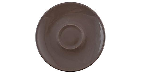 Desconocido H & H 4283464 Plato X, Taza Jumbo, Cromático, cerámica, marrón: Amazon.es: Hogar