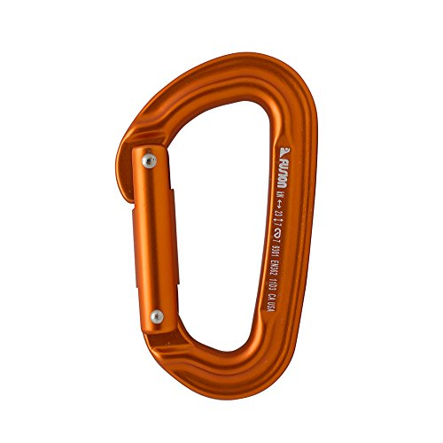 a Modified Straight Gate Modified D Shape Carabiner Orange (Cypher Carabiner)