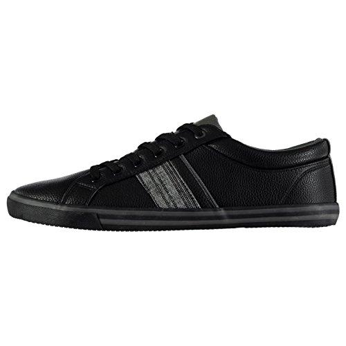 Sneakers Sovietiche Da Uomo Con Cinturino Alla Caviglia Con Fibbia In Pelle Nera / Antracite