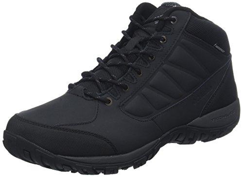 Columbia Ruckel Ridge Chukka WP Omni-Heat, Zapatillas de Senderismo para Hombre Negro (Black, Dark Grey 010)
