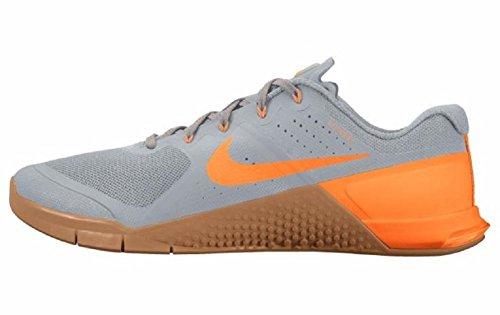 Nike Mens Metcon 2 Trainingsschoen, Wolf Grijs / Citrus