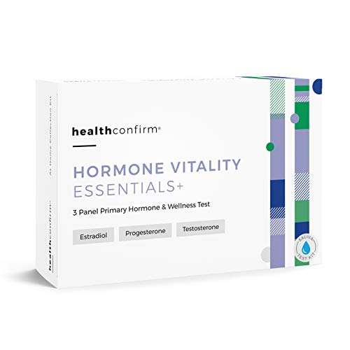 HealthConfirm - Hormone Vitality Essentials - At-Home Test Kit - 3 Panel Morning Hormone Balance Saliva Collection Kit