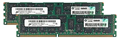 HP Genuine 32GB (2x16GB) Server Memory Upgrade 672612-081 for HP Proliant ML350 G8v2 DDR3 1600Mhz PC3-12800 ECC Registered 2Rx4 CL11 1.5v