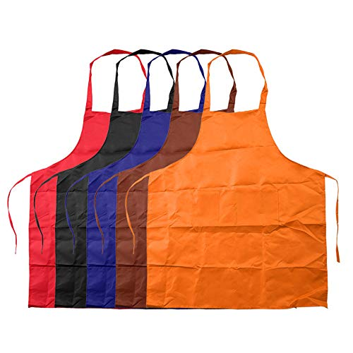 Sleeveless Simple Adjustable Plain Apron with Front Pocket Butcher Chefs