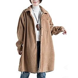 Mordenmiss Women's Fleece Inner Corduroy Coat