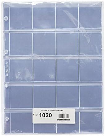 Pardo 102000 - Pack de 10 fundas para colección variada, 20 alojamientos