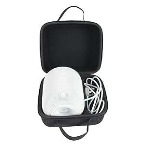 Anleo Hard Travel Case for Apple Homepod Speaker(Black)