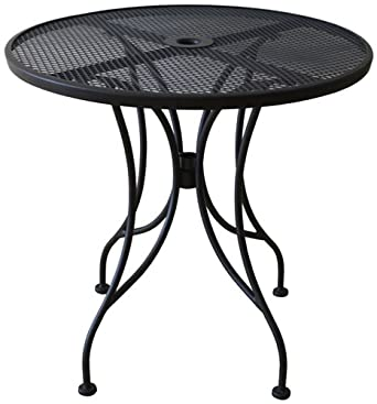 Attractive Oak Street Manufacturing OD30R Round Black Mesh Top Outdoor Table, 30u0026quot;  Diameter