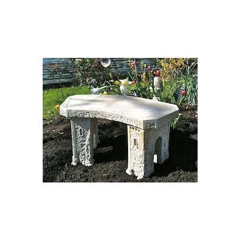 Amazon Com Quot Garden Bench Quot Cast Stone Granite Rock Bench