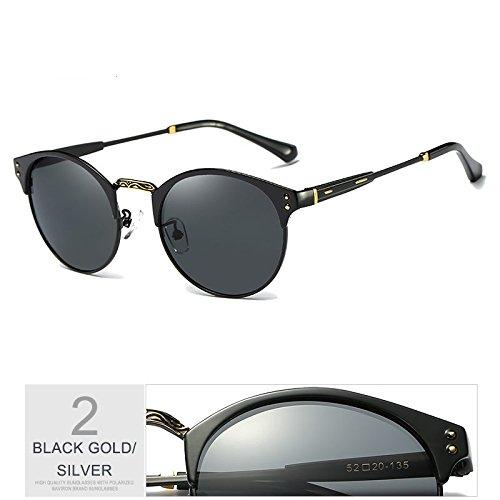 Negro Sol GRAY Gafas Gafas TIANLIANG04 De Gris Hombre BLACK Aluminio De Polarizadas GOLD Guía De Gafas Sol Uv400 Proteger Plata wExaH
