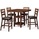 Better Homes and Gardens 5-Piece Counter Height Dining Set, Mocha