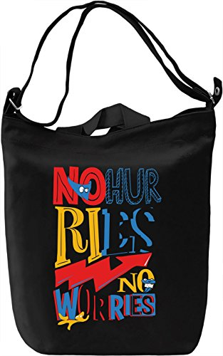No hurries Borsa Giornaliera Canvas Canvas Day Bag| 100% Premium Cotton Canvas| DTG Printing|