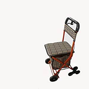 J&M Carro carrito de la Con freno andador con asiento ...