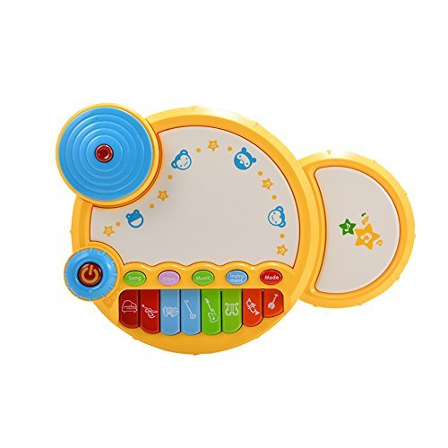 ThinkMax Kids Drum Set, Musical Drum Toy with Light for C...