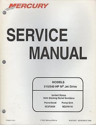 mercury 210 240 hp m2 jet drive outboard repair manual improved