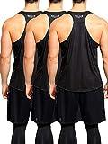 Neleus Men's 3 Pack Workout Muscle Tank Top Sleeveless Gym Dri Fit Shirt