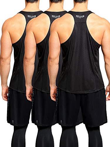 Y-Back Muscle Workout Tank Top,5008,3 Pack,Black/Black/Black,2XL,EU 3XL ()