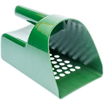 SE GP3-SS20 Green Plastic Sand Scoop for Treasure Hunting