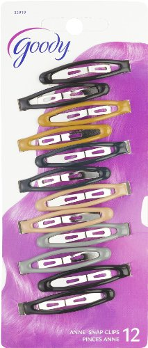 Goody Classics Contour Hair Clip, Epoxy 12 On, 0.301 Ounce (Pack of 3)