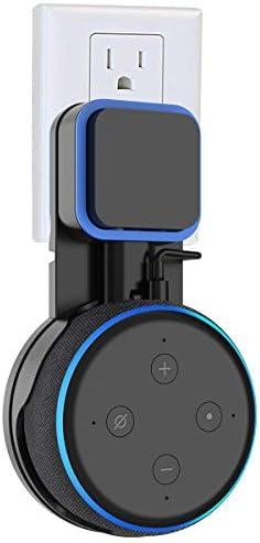 SPORTLINK Soporte para Dot (3.ª generación), Gestión de Cables incorporada, sin Tornillos en Las cocinas, baño y Dormitorio (Negro) 3
