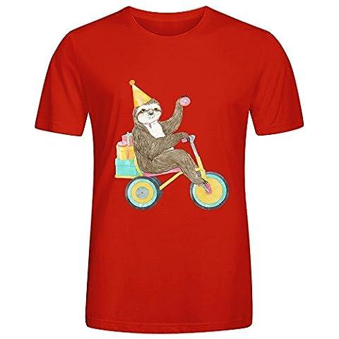 Zebra Mens T Shirts Red (Button Pins Beyonce)