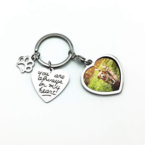 Dog Pet Photo Keychain - WIEZO-USA Pet Dog Remembrance Memorial Photo