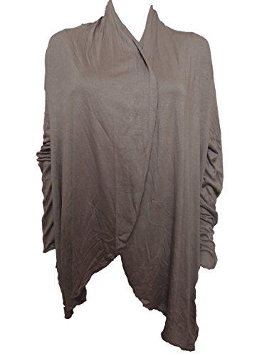 10 Farben Lange Damen Jacke, Gr. 42 44 46 48 50 52 54 Braun