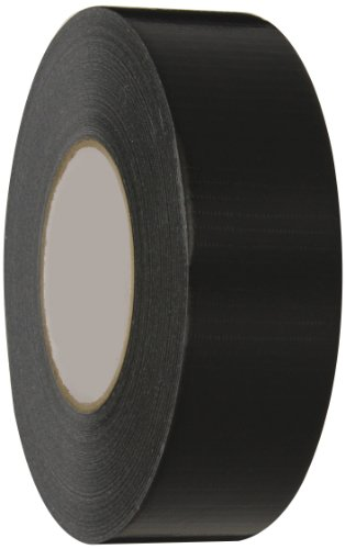 Nashua 345 Polyethylene Coated Cloth Professional Grade Duct Tape 55m Length x 48mm Width, Black - Polyethylene Coated Cloth Duct Tape
