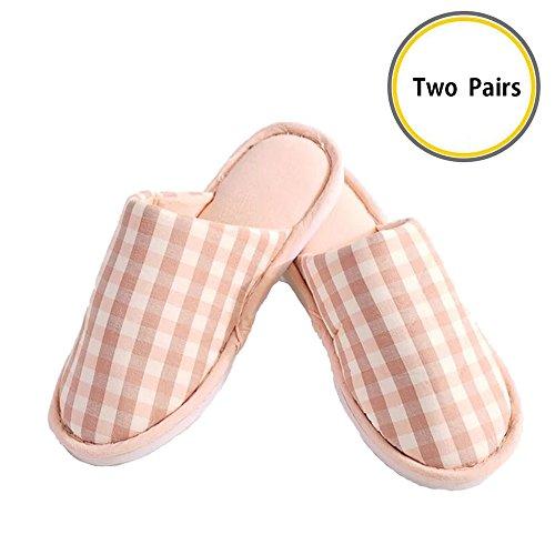 XL Sohle Hausschuhe Innen Rose Lanker Schuhe Leicht Geschlossen Waschbar kj22p Baumwolle mit Zehen Flach Ultra Rose Comfort Rutschfester gqqEOzw1a