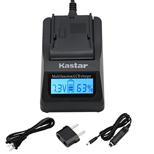 Kastar Ultra Fast Charger(3X faster) Kit for Panasonic CGA-DU06 CGA-DU07 CGA-DU14 CGA-DU21 VW-VBD070 VBD140 VBD210 and PV-GS31 PV-GS33PV-GS34 PV-GS35 PV-GS39 PV-GS400 PV-GS500 PV-GS50 PV-GS50S PV-GS55 Gs280 Camcorder Battery