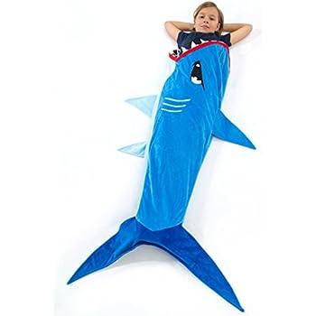 Echolife Shark Tail Blanket Super Soft Minky Shark Sleeping Bag for Kids  Age 3-12