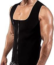 Goldenstarsport Men Waist Trainer Vests for Sweat Weight Loss (S to 4XL) Double Zipper Men Sweat Vest Sauna Ta