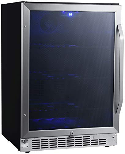 EdgeStar CBR1502SG 24 Inch Wide 142 Can Built-in Beverage Cooler with Tinted Door by EdgeStar (Image #6)
