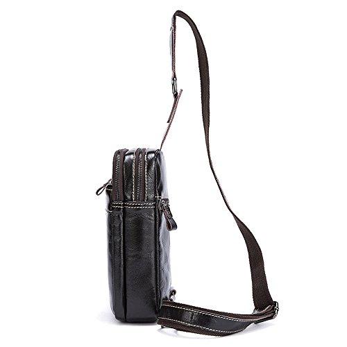 bolso bolso de pecho Bolso pecho hombro de vendimia pecho los lugares de cuero hombres ocasional de la los cuero convenientes superior de hombres de de bandolera bolso ligero Bolso de ocio de aqw4v4