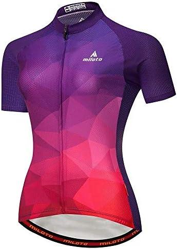 新しい半袖シャツ、速乾性のスーツ、女性のスポーツ サイクリングウェア