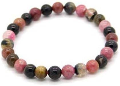 Pulsera Turmalina Multicolor Bolas 6mm Minerales y Cristales, Belleza energética, Meditacion, Amuletos Espirituales