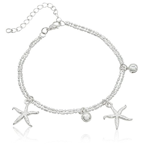 Bienvenu 2 Piece Starfish Ankle Bracelet Beach Wedding Anklets Barefoot Sandals Foot (Christmas Vacation Themed Costumes)