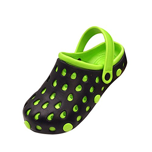 Genda 2Archer Men Women Casual Beach Clogs Sandals Injected EVA Slipper Shoes Black Green NGx9ta6lf