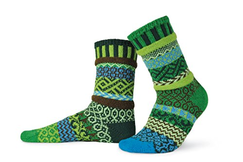 Solmate Socks - Mismatched Crew Socks; Made in USA; Earth Medium