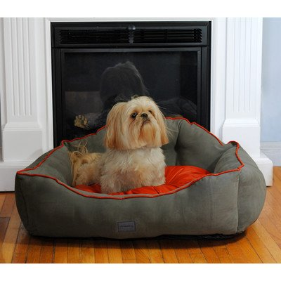 Courtier Royal Couch Dog Bed Size: Large , Color: Gray