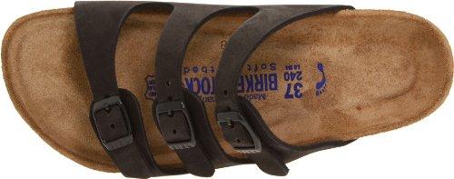 Birkenstock Women's Florida Soft Footbed Birko-Flor  Black Nubuck Sandals - 37 M EU / 6-6.5 B(M) US by Birkenstock (Image #7)