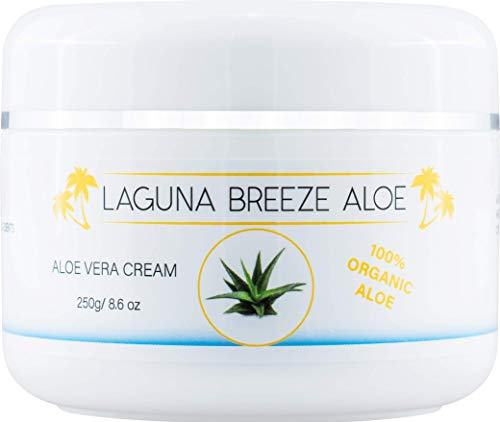 Aloe Cream by Laguna Breeze - Body and Face Lotion for Women and Men - Psoriasis Eczema Dry Skin Cracked Hands and Feet - Moisturizer for Full Body and Not Greasy - Soothing Itchy Skin - 8.6oz - 250