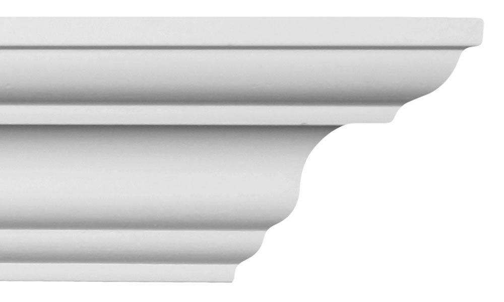 Crown Molding - Plastic Crown Moulding Manufactured with a Dense Architectural Polyurethane Compound. CM-1027 - 11 Moldings.
