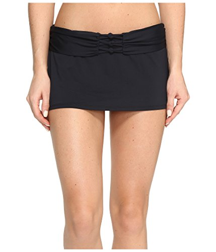 (Bleu Rod Beattie Women's Knotty But Nice Skirted Hipster Bottom Black Swimsuit Bottoms)