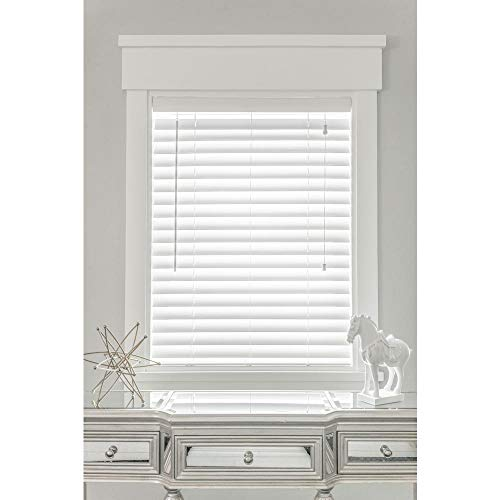 Blinds Emporium 2″ Inch Faux Wood Blind with Cord – 30″ x 72″ (Actual Size 29 1/2″ x72″) – Corded Assorted Sizes