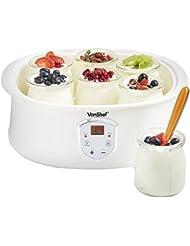 VonShef Automatic Digital Yogurt Maker with LCD Display Screen and 7 x 6.8oz Yogurt Jars – Make Natural Healthy Yogurt at Home