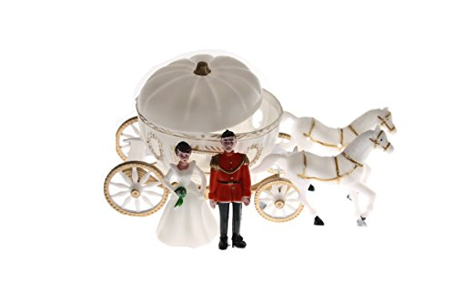 (NST 2 Large Cinderella Coach Wedding Carriage Favor Plastic)