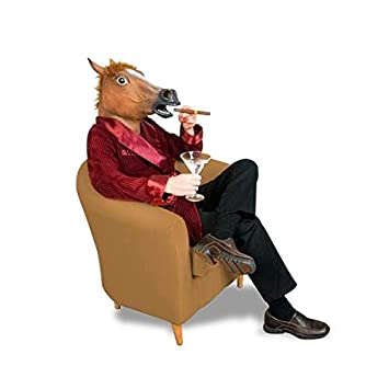 Amazon.com: costume horse head mask latex suit: Toys & Games