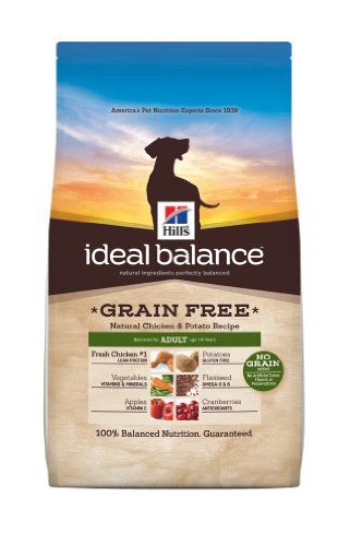 Hill's Ideal Balance Grain Free Chicken and Potato Recipe Adult Dogs Dry Food Bag, 21-Pound, My Pet Supplies